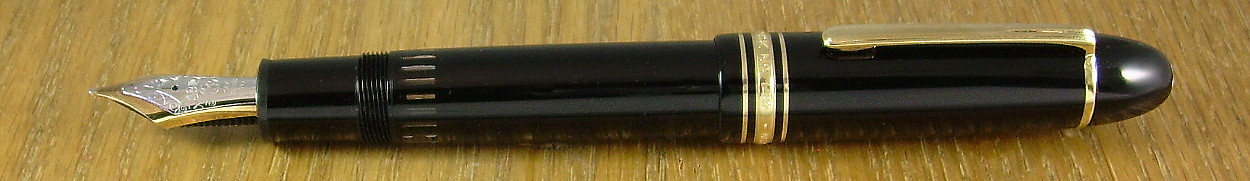 Montblanc Miesterstück No. 149.  One of the few pens that is as big as it looks in pictures.